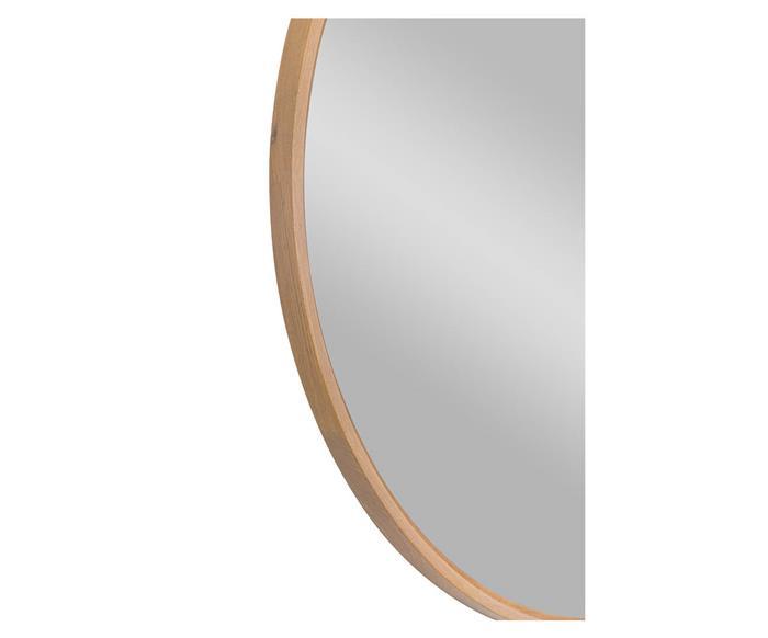 espelho redondo em madeira 90cm oslo 1347 espelho redondo em madeira 90cm oslo