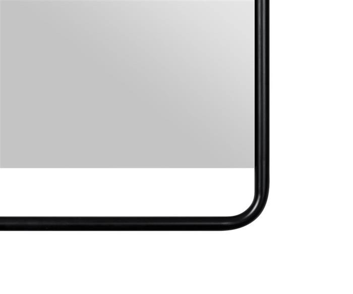 espelho retangular preto em metal soho 1364 espelho retangular preto em metal soho