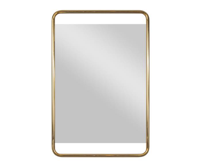 espelho retangular dourado em metal soho 1365 espelho retangular dourado em metal soho