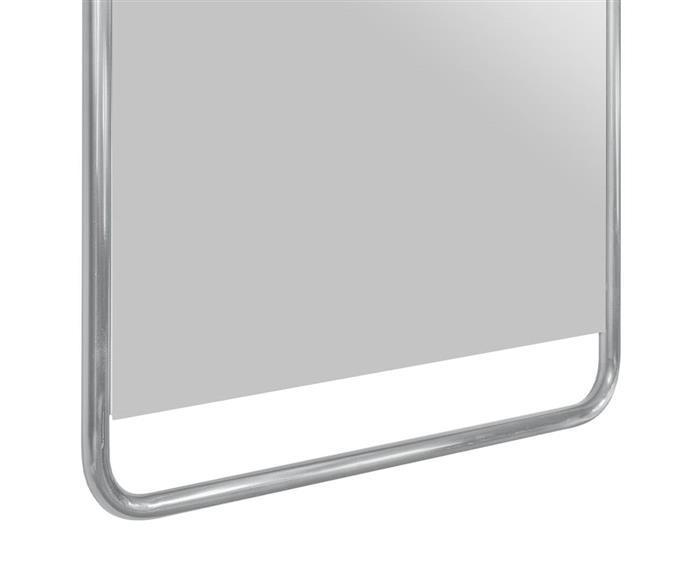 espelho retangular cromado em metal soho 1366 espelho retangular cromado em metal soho