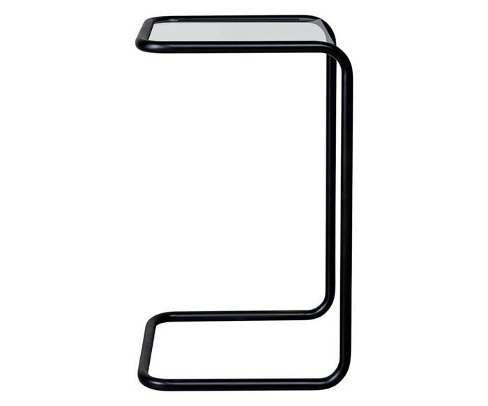 mesa lateral em metal preto e vidro pecs 1375 mesa lateral em metal preto e vidro pecs