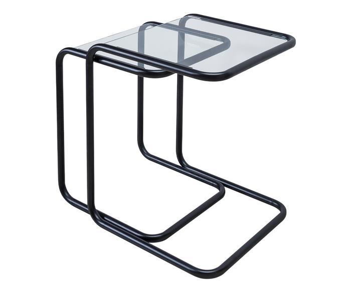 mesa ninho lateral em metal e vidro pecs 1378 mesa ninho lateral em metal e vidro pecs