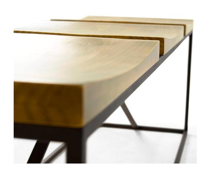 banco 3 lugares em metal e madeira mescla 1051 banco 3 lugares de metal e madeira