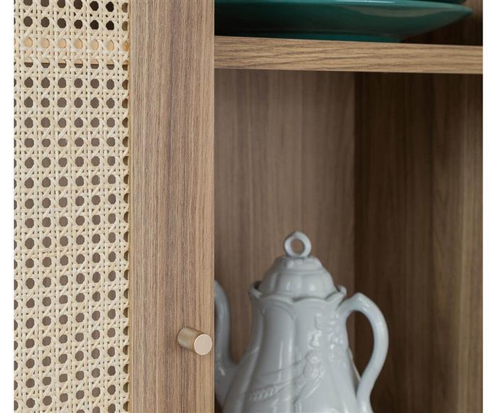 cristaleira armário com palha villa 1295 cristaleira armário com palha villa v