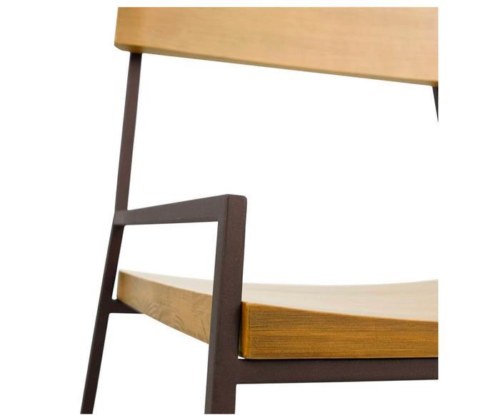 cadeira em madeira maciça e metal mescla 1288 cadeira em metal e madeira v