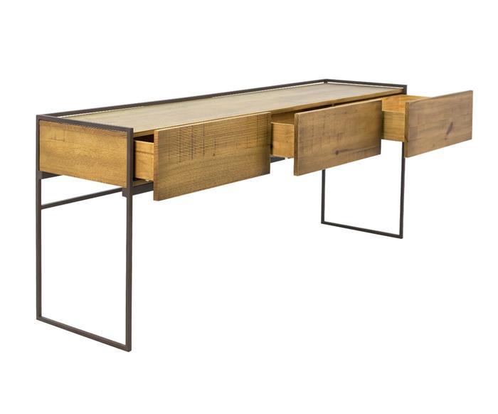 aparador em metal e madeira maciça mescla 1045 aparador em metal e madeira
